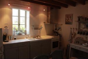 De keuken vakantiehuis Bourgogne Les champs de Fleury