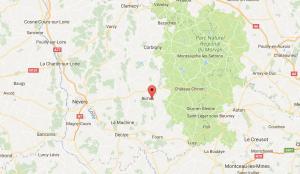 Les champs de Fleury vakantiehuis in de Bourgogne routebeschrijving
